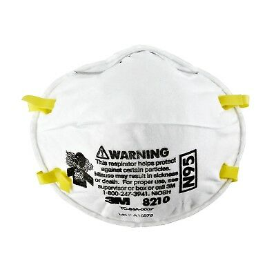 3M 8210 N95 Dust Particulate Respiratory Protection Masks  - Various Quantities