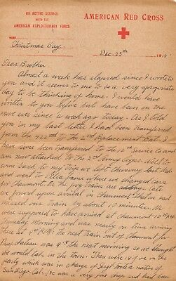 WWI Christmas December 1918 Soldier American Red Cross 9 Page Letter Home