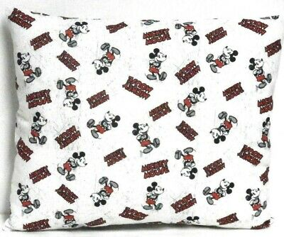Mickey Mouse Toddler Pillow on White 100%Cotton M13-10 New Handmade
