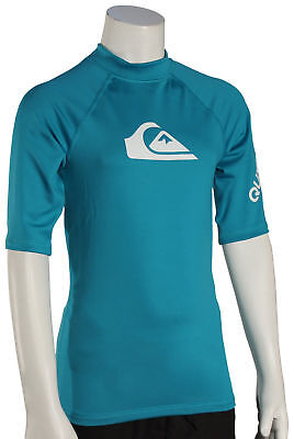 Quiksilver Boy's All Time SS Rash Guard - Typhoon - New