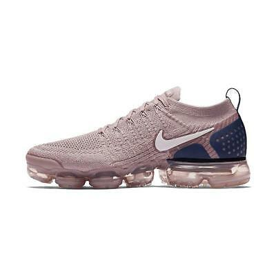 Nike Air Vapormax Flyknit 2.0 Diffused Taupe Navy Pink Men's Running 942842-201