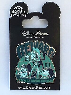 Disney Parks Pixar Haunted Mansion Toy Story Hitchhiking Ghosts Beware! Pin NOC