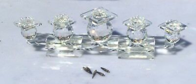 Lovely Swarovski Silver Crystal 5 Candle Holder Candelabra 13 Inches Preowned
