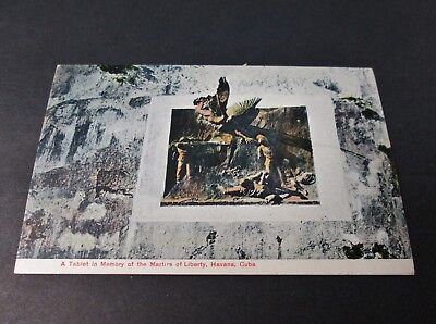 Early CUBA Postcards Martyrs of Liberty Memorial Tablet Unused