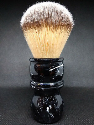 Yaqi 24MM  Black and White Marble Effect Handle Synthetic Knot Shaving Brush