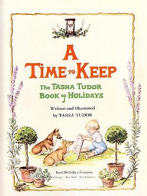 Hand SIGNED Tasha Tudor Book A Time To Keep Illustrated with Welsh Corgi Dogs