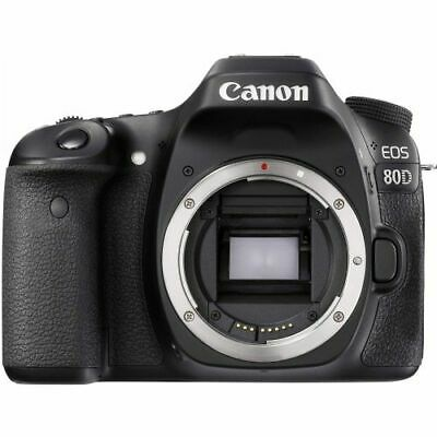 Canon EOS 80D 24.2MP Digital SLR Camera Body Black 1263C004 FREE SHIPPING