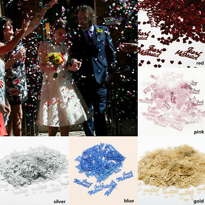 1Bag Just Married Sequins Paper Confetti Heart Shaped Wedding Party Decoration