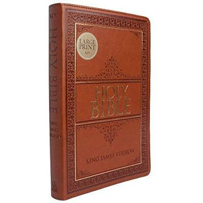 Large Print King James Version Holy Bible with Tabs Tan Thumb Index Edition