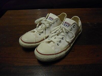 Converse All Star Low Cut White Shoes Men's Size 8.5