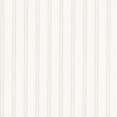 Super Fresco  56 sq. ft. 1 Double Roll Beadboard Paintable White Wallpaper,NEW