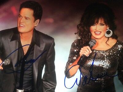 Donny & Marie Osmond signed auto 8x10 in person hot HOF coa rare Osmonds