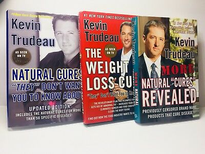 Kevin Trudeau 3 Hardcover Book Lot LIKE NEW Weight Loss Cure, Natural Cures...