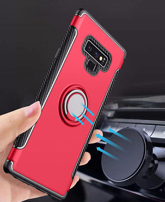 Dooqi Ring Holder Shockproof Rugged Armor Case Cover For Samsung Galaxy Note 9