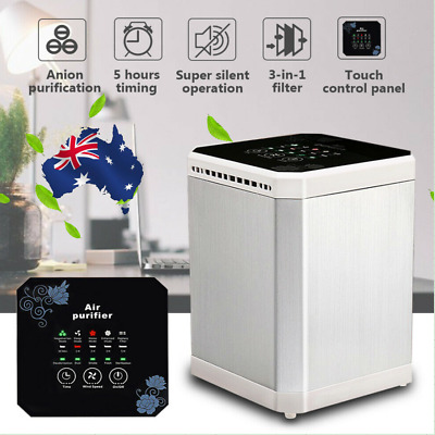 AUGIENB 3-in1 Filter Timing Desktop Air Purifier Ionizer Negative Ion Generator