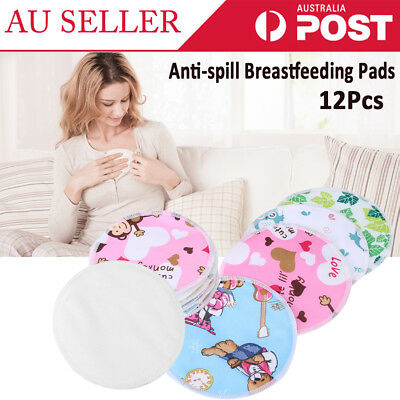 12X Reusable Bamboo Baby Feeding Breast Pads Washable Mum Nursing Breastfeeding