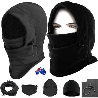 Winter Thermal Fleece Balaclava Hood Cap Ski Mask Cover Hat Scarf Neck Warmer AU