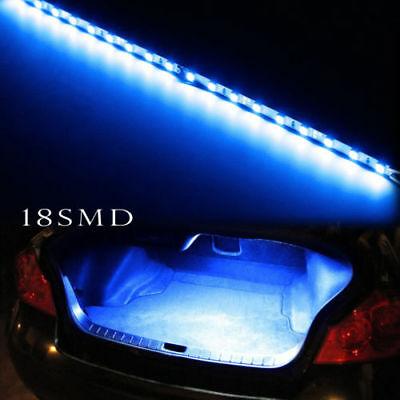 Ultra Bright T10 18SMD LED Strip Car Trunk Cargo Area LED Light Lamp 3w Blue
