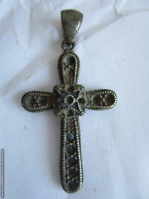 Old silver Russian cross, rare, 18th century, 100% authentic !!!
