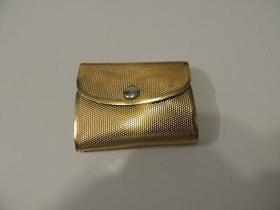 Vintage Gillette travel razor in gold folding soft case with replacement blade