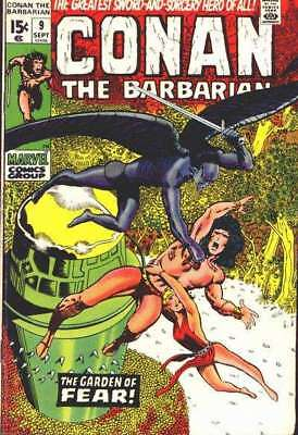 Conan the Barbarian (1970 series) #9 in Very Good minus condition. Marvel comics