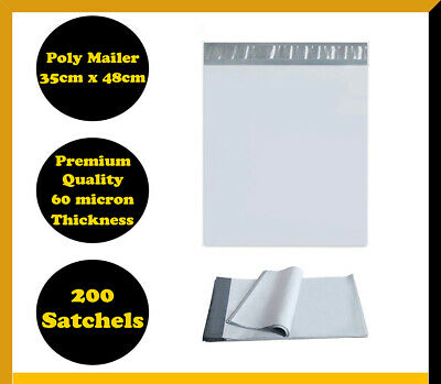 200 Poly Mailer 350x480mm Courier Plastic Bag Self Sealing Mailing Satchel