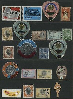 Tonga - collection of 35x different stamps - mix of mint and used - Lot6 - BQ017