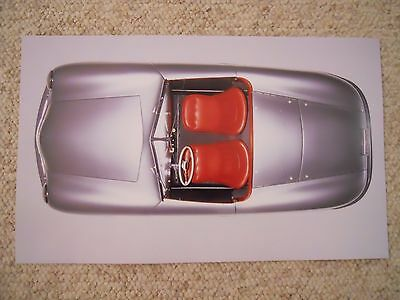 1948 Porsche 356-001 Roadster Showroom Advertising Poster RARE!! Awesome (1998)