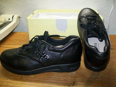 Supremes Soft Spots Black Leather Marathon Comfort Walking Shoes 10 Narrow Reasonable Price Comfort Shoes