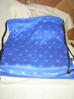 Southwest Airlines Small Foldable Fabric Backpack/Carry Bag