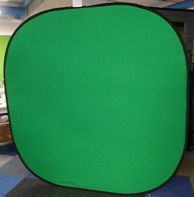 2 color reversible greenscreen portable POP-UP 2mx2m Background Chromakey +case