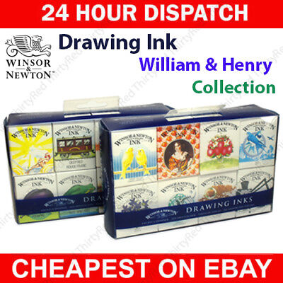 Winsor & Newton William & Henry Ink Set Collections - Drawing & Calligraphy Inks