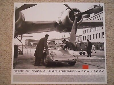 1955 Porsche 550 Spyder Showroom Advertising Sales Poster RARE!! Awesome L@@K