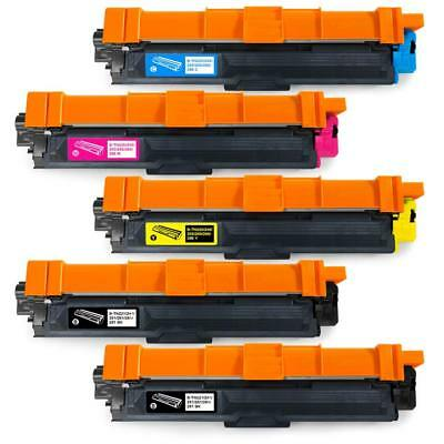 5-Pk/Pack TN225 TN221 Color Toner Set Brother HL-3140CW MFC-9130CW MFC-9330CDW