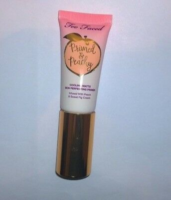 Too Faced Peach Perfect Primed & Peachy Cooling Matte Primer .67 oz - New