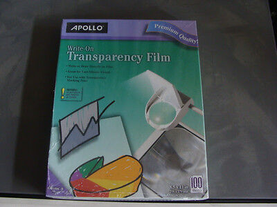 Apollo Write-On Transparency Film 8.5 x 11 Inches 100 Sheets/Box