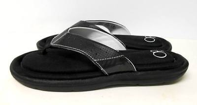646cf2808dc5 NEW Womens OP Memory Foam Flip Flop Thong Sandals M size 7 8 Black Ocean