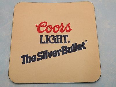 Older Beer Brewery Coaster ~*~ COORS Brewing Company Light ~^~ The Silver Bullet
