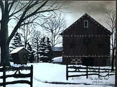 Billy Jacobs The Christmas Barn Lighted Wrapped Canvas 16 x 12