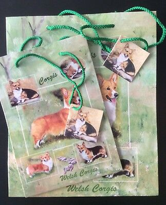 New Welsh Corgis Gift Bags Set of Two By Ruth Maystead