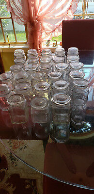 Huge Glass Apothecary Jar Lot ~ 28 Jars