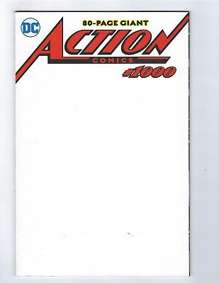 Action Comics # 1000 Variant Blank Sketch Cover NM DC