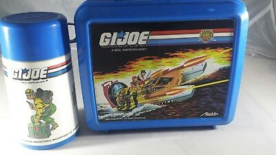 Vintage GI JOE  PLASTIC LUNCH BOX WITH THERMOS  1988