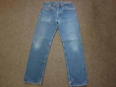 VTG 80s Levis 501 Button Fly Denim Mom Jean Pants Blue 31/30 30 x 29 Made In USA