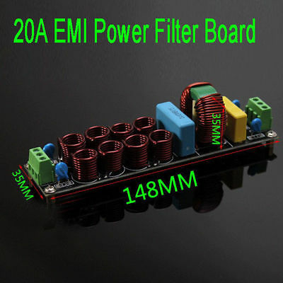 4400W 20A EMI Power Filter Purifier Board Noise Suppressor AC 110V 220V (S180)