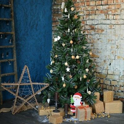 Vintage Brick Wall Christmas Tree10x10'  Photography Backgrounds Photo Backdrops