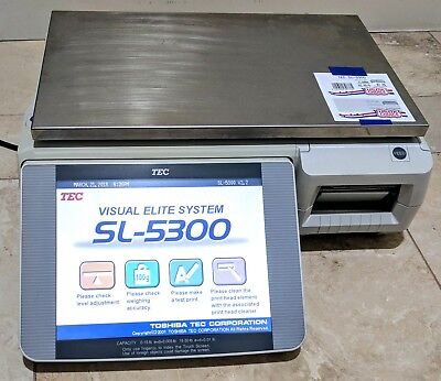 (2 for $1,299 ea.) TEC SL5300 POS Digital Printing Scale Touch Screen - 30lb