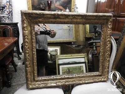 Antique Mirror Of 700 With Frame Golden Period Eighteenth Century Antique Gilt