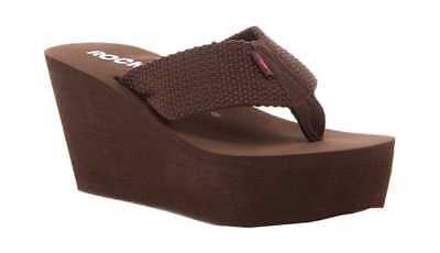 d091951d131 Rocket Dog Women s Diver Wedge Sandal Tribal Brown Webbing Thong Sandals