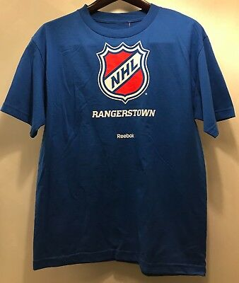 NWT Reebok New York Rangers Men s T-Shirt NHL Hockey Tee Shirt Blue Size  Medium ba7282154